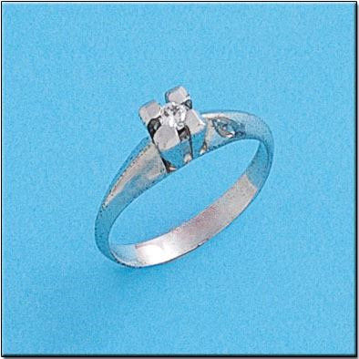 ANILLO ORO BLANCO 18KL DIAMANTE