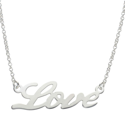 COLLARES LOVE PLATA 925MM