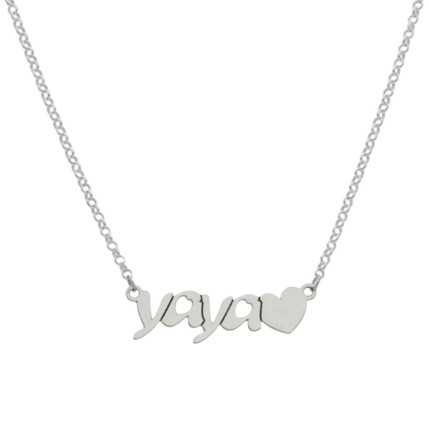 COLLARES YAYA + CORAZON PLATA 925MM