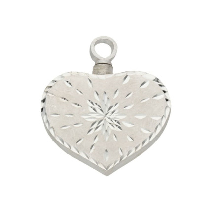 GUARDACENIZAS CORAZON PLATA 925MM-25X29MM